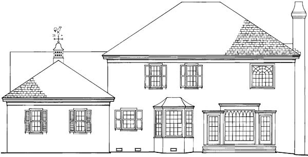 Country European Traditional House Plan 86146 Rear Elevation