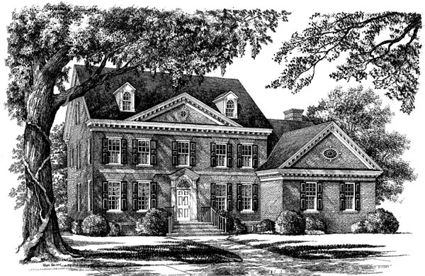 Colonial, Southern House Plan 86149 with 4 Beds, 3 Baths, 2 Car Garage Elevation