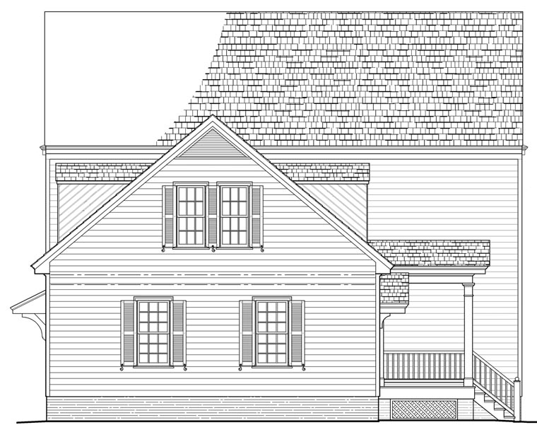 Traditional House Plan 86157 Rear Elevation