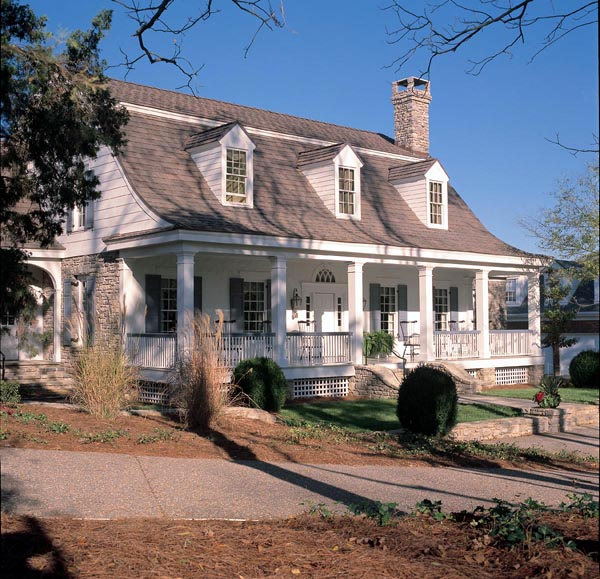 Colonial Cottage Country Farmhouse Plantation Traditional House Plan 86164 Elevation