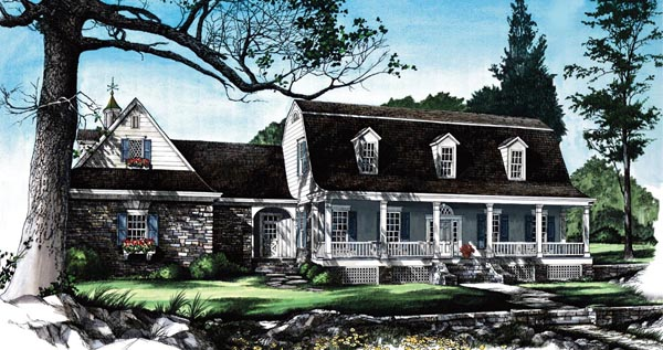 Country Farmhouse House Plan 86165 Elevation