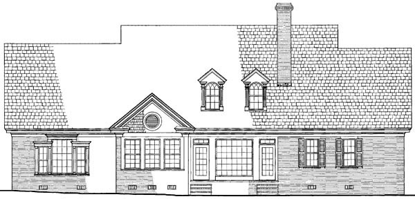 Plantation, Ranch, Traditional House Plan 86171 with 5 Beds, 5 Baths, 2 Car Garage Rear Elevation
