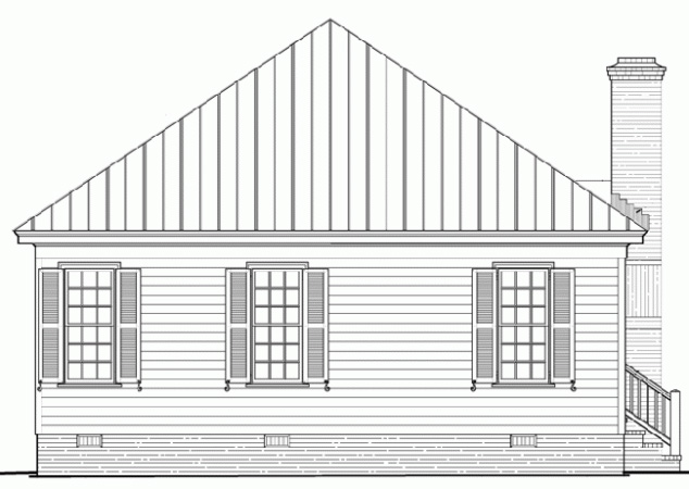 Bungalow Country House Plan 86172 Rear Elevation