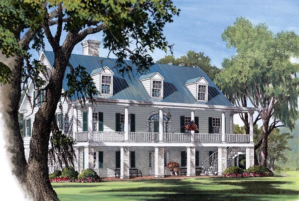 Colonial Plantation Southern House Plan 86178 Elevation