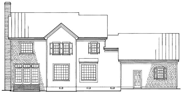 Traditional House Plan 86181 Rear Elevation