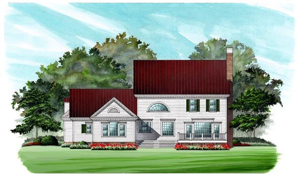 Colonial Southern House Plan 86182 Rear Elevation