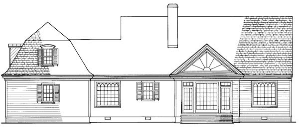 Farmhouse House Plan 86184 Rear Elevation
