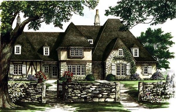 European Tudor House Plan 86185 Elevation