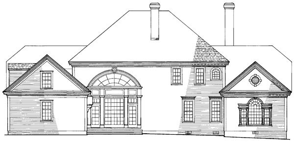 Colonial Plantation Southern House Plan 86186 Rear Elevation