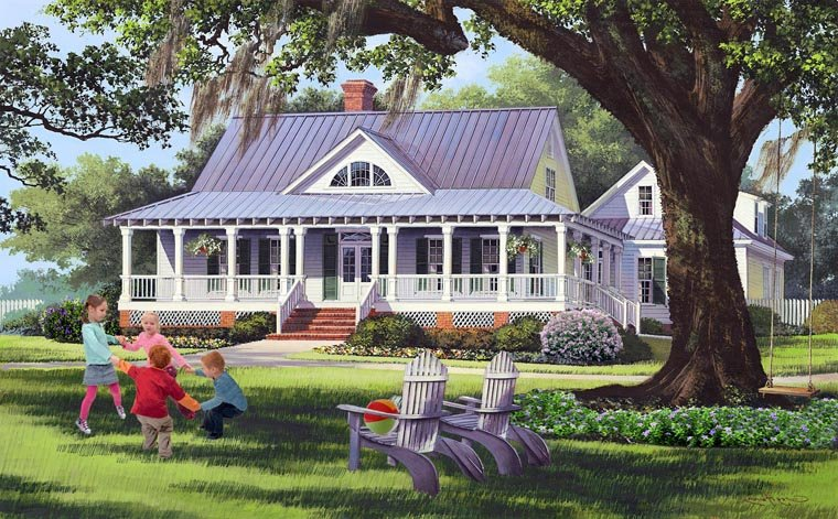 Country Farmhouse Traditional House Plan 86189 Elevation