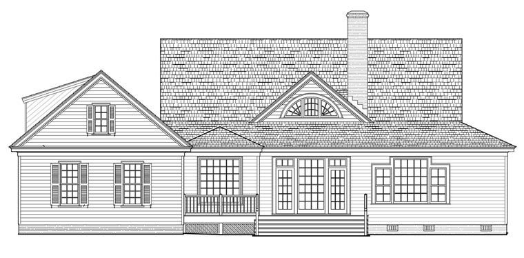 Country Farmhouse Traditional House Plan 86189 Rear Elevation