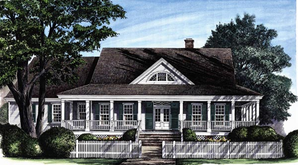 Plan 86194 Colonial Style House Plan With 3 Bed 3 Bath