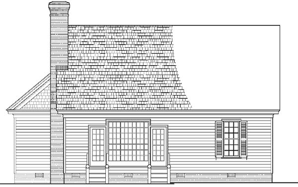 Cottage Country Farmhouse Traditional House Plan 86196 Rear Elevation