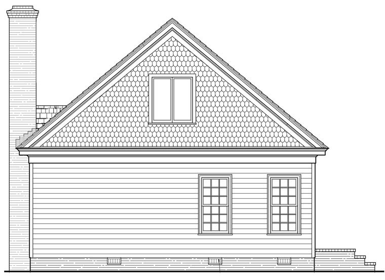 Bungalow Cottage House Plan 86198 Rear Elevation