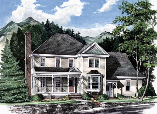 Cottage Country Farmhouse House Plan 86199 Elevation