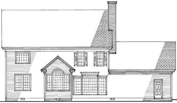 Traditional House Plan 86200 Rear Elevation