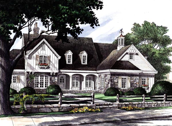 Country Craftsman Southern House Plan 86201 Elevation
