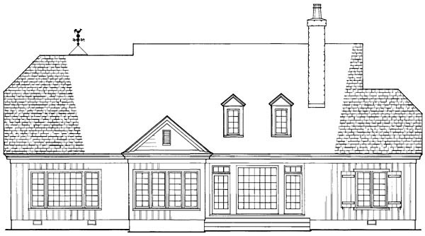 Country Craftsman Southern House Plan 86201 Rear Elevation