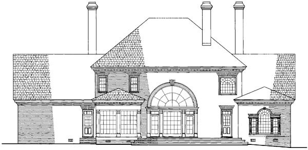 Colonial Plantation House Plan 86207 Rear Elevation