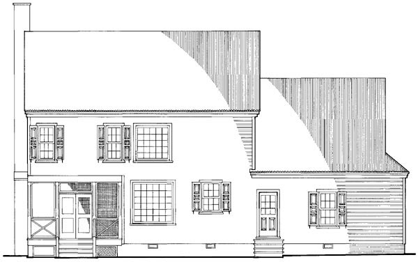 Southern House Plan 86208 Rear Elevation