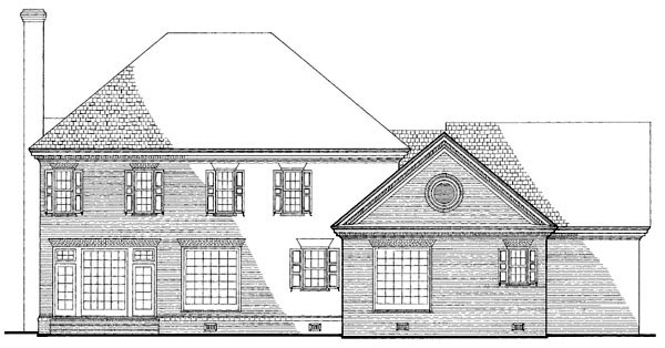 Southern Traditional House Plan 86211 Rear Elevation