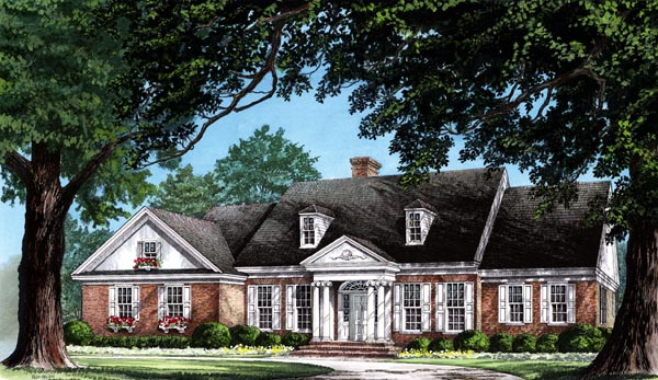 Colonial Traditional House Plan 86212 Elevation
