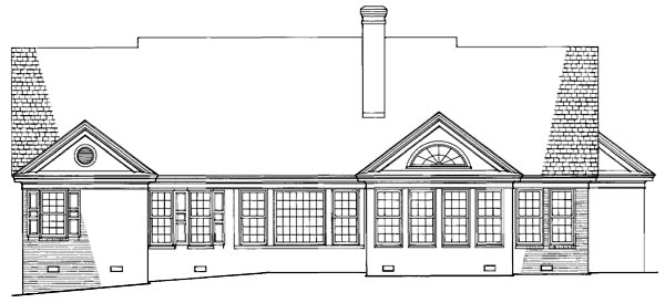 Colonial Traditional House Plan 86212 Rear Elevation