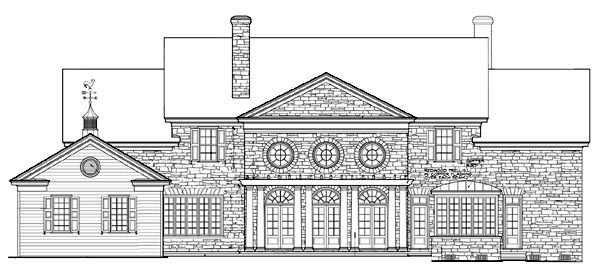 Colonial Plantation Southern House Plan 86213 Rear Elevation