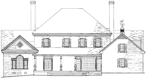 Colonial Plantation Traditional House Plan 86214 Rear Elevation