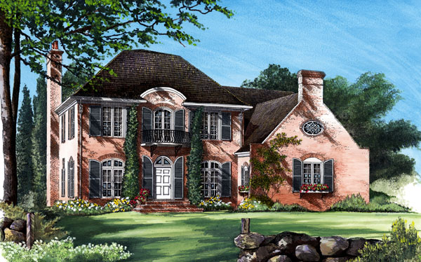 European House Plan 86215 Elevation