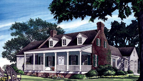 Cottage, Country, Southern House Plan 86216 with 3 Beds, 4 Baths, 2 Car Garage Picture 1