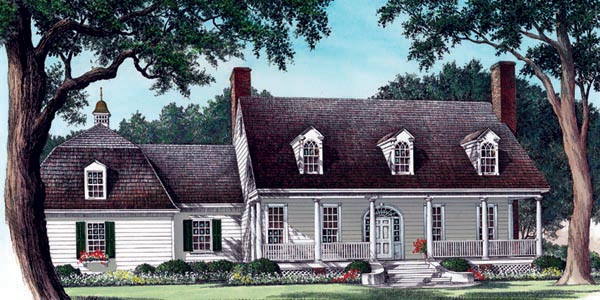 Cape Cod Colonial Farmhouse Southern House Plan 86222