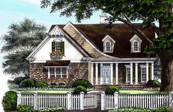 Cottage Country Craftsman European House Plan 86223 Elevation