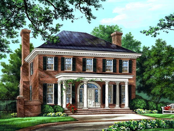Southern colonial plantation house Southern colonial style house plans