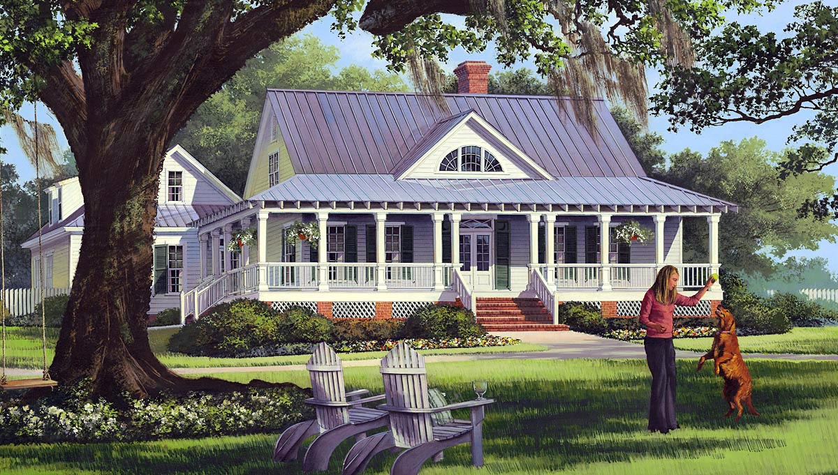 House plan 86226 at for Low country farmhouse plans