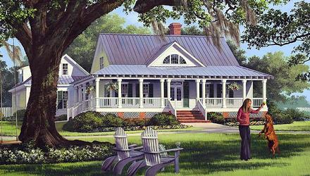 Cottage, Country, Farmhouse, Traditional House Plan 86226 with 4 Beds, 3 Baths, 2 Car Garage