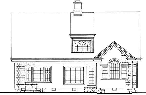 Craftsman Traditional House Plan 86228 Rear Elevation