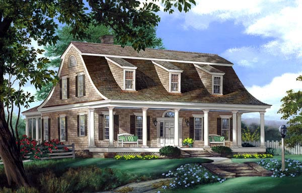 Colonial Traditional House Plan 86232 Elevation