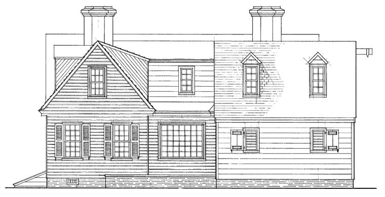 Colonial Traditional House Plan 86234 Rear Elevation