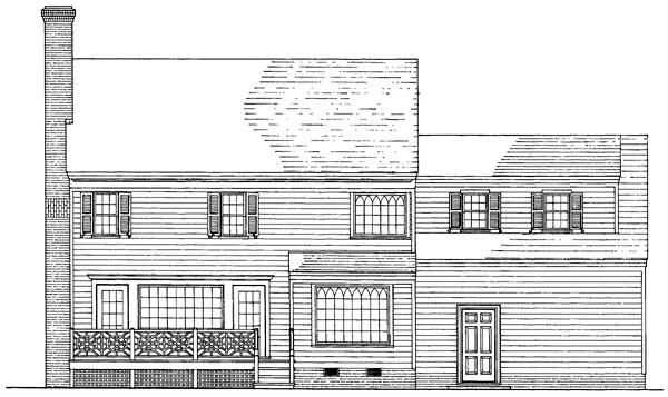 Colonial Country Traditional House Plan 86235 Rear Elevation