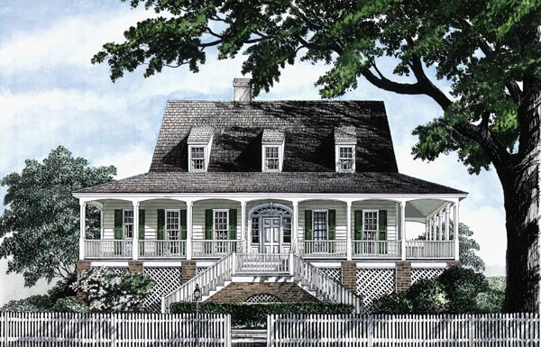 Colonial Cottage Country Craftsman Farmhouse Southern Traditional House Plan 86236 Elevation