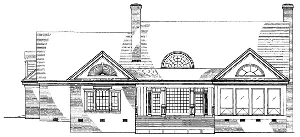 Southern Traditional House Plan 86237 Rear Elevation