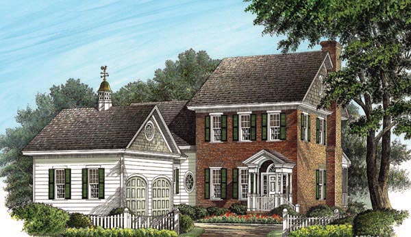 Colonial Traditional House Plan 86238 Elevation