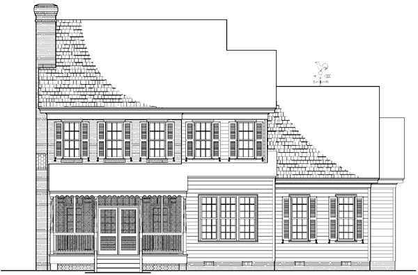 Colonial Traditional House Plan 86238 Rear Elevation