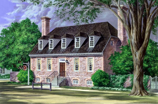 Colonial Traditional House Plan 86240 Elevation