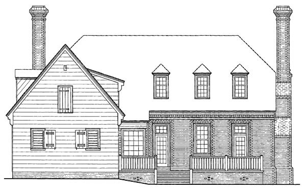 Colonial Traditional House Plan 86240 Rear Elevation