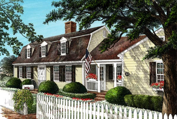Colonial Cottage Country Traditional House Plan 86241 Elevation