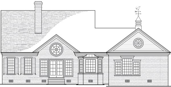 Cottage Country House Plan 86243 Rear Elevation