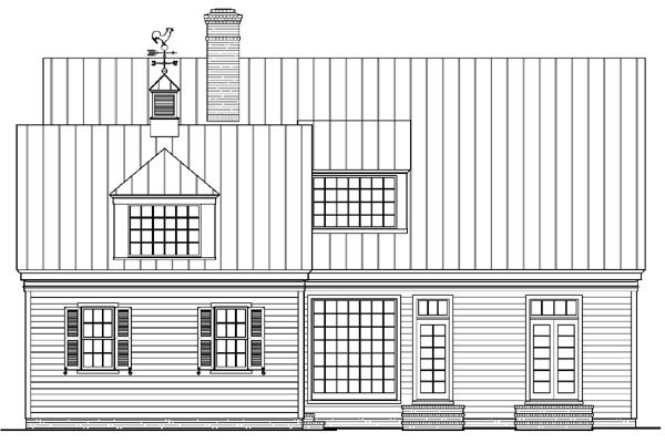 Country Farmhouse Southern House Plan 86244 Rear Elevation