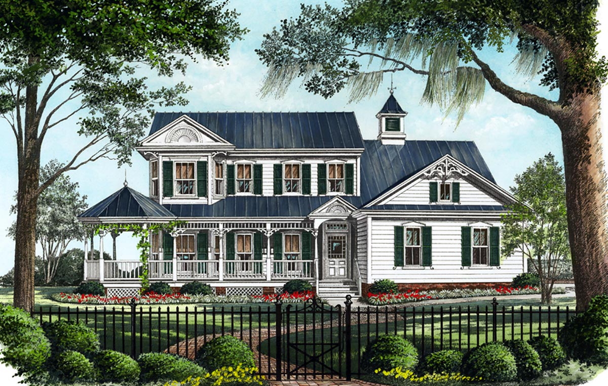 Folk victorian cottage house plans for Victorian style house plans